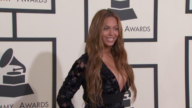 beyoncé at the 57th annual grammy awards - red carpet at staples center on february 08, 2015 in los angeles, california. - 2015 stock videos & royalty-free footage