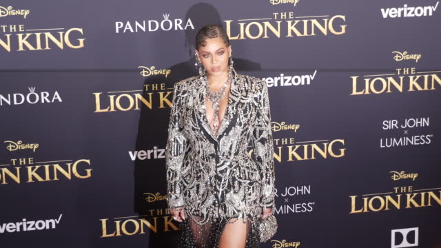 beyoncé at the world premiere of disney's the lion king at dolby theatre on july 09 2019 in hollywood california - beyoncé knowles stock videos & royalty-free footage