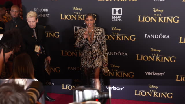 Beyoncé at the World Premiere of Disney's The Lion King at Dolby Theatre on July 09 2019 in Hollywood California