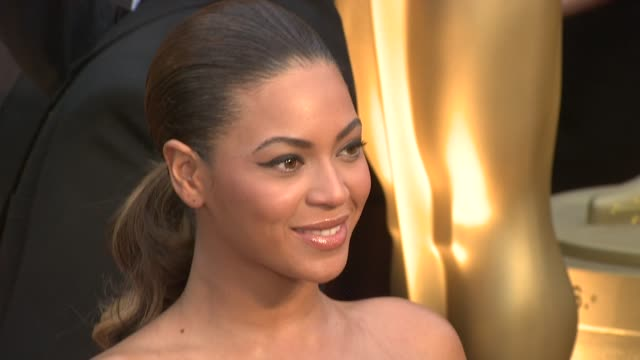 beyoncé knowles at the 81st academy awards arrivals part 6 at los angeles ca - 2009 video stock e b–roll