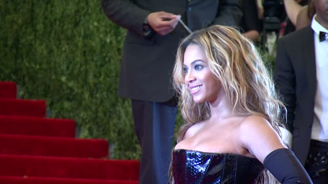 Beyonce at PUNK Chaos To Couture Costume Institute Gala at Metropolitan Museum of Art on May 06 2013 in New York New York