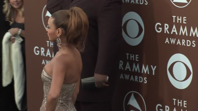 beyonce at the 2006 grammy awards arrivals at the staples center in los angeles california on february 8 2006 - grammys stock videos & royalty-free footage