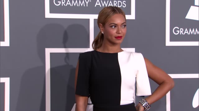 beyonce at the 55th annual grammy awards arrivals 2/10/2013 in los angeles ca - grammys stock videos & royalty-free footage