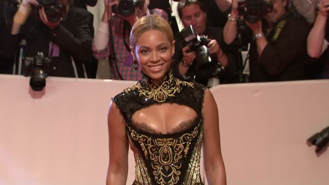 beyonce at the 'alexander mcqueen savage beauty' costume institute gala at the metropolitan museum of art at new york ny - beyoncé knowles stock videos & royalty-free footage