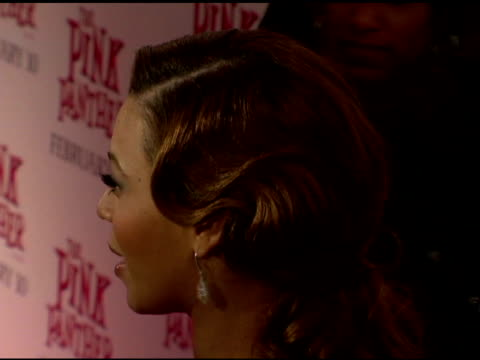 Beyonce at the 'The Pink Panther' World Premiere at the Ziegfeld Theatre in New York New York on February 6 2006