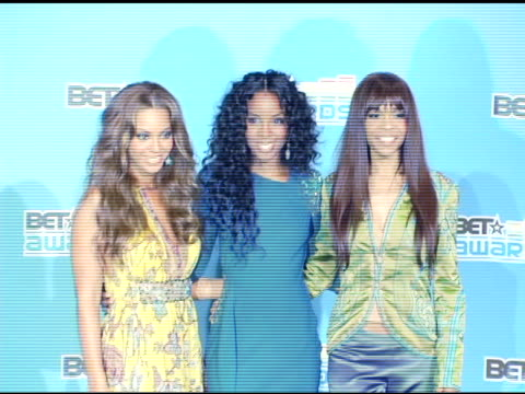 beyonce, kelly rowland and michelle willams of destiny's child at the 2005 bet awards press room at the kodak theatre in hollywood, california on... - destiny's child stock videos & royalty-free footage