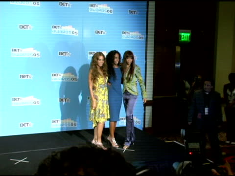 beyonce, kelly rowland and michelle willams of destiny's child at the 2005 bet awards press room at the kodak theatre in hollywood, california on... - bet awards stock videos & royalty-free footage