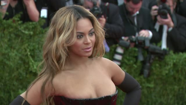 Beyonce Knowles at PUNK Chaos To Couture Costume Institute Gala at Metropolitan Museum of Art on May 06 2013 in New York New York