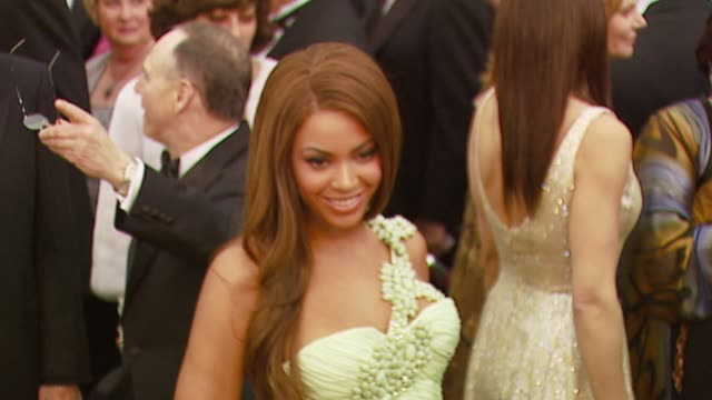 beyonce knowles at the 2007 academy awards arrivals at the kodak theatre in hollywood, california on february 25, 2007. - straight hair stock videos & royalty-free footage