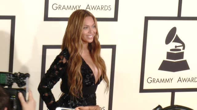 Beyonce Knowles at The 57th Annual Grammy Awards Red Carpet at Staples Center on February 08 2015 in Los Angeles California