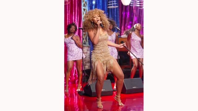 Beyonce Knowles at 'The Tonight Show with Jay Leno' at the NBC Studios on July 23 2002 in Burbank California