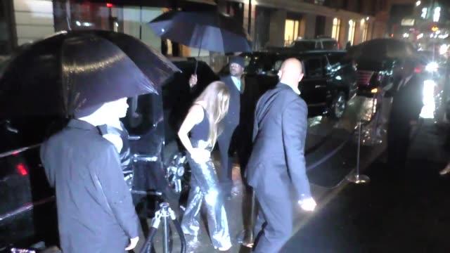 Beyonce Knowles Solange Knowles outside the Boom Boom Room Nightclub in New York in Celebrity Sightings in New York