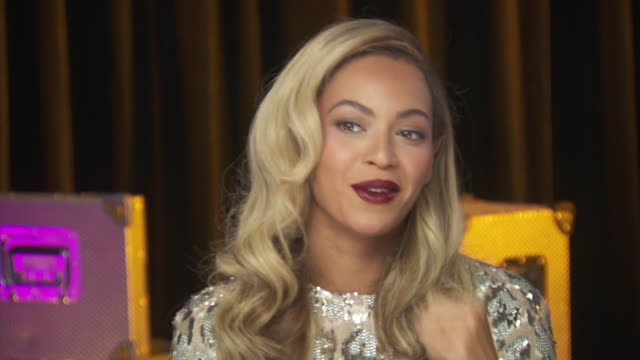 beyonce says that it's time to find a new job when you're not nervous anymore while backstage at the chime for change event to benefit women's rights... - gender stereotypes stock videos & royalty-free footage