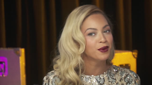 beyonce says that she is proud to be a part of chime for change event that benefits women's rights around the world. - human rights or social issues or immigration or employment and labor or protest or riot or lgbtqi rights or women's rights stock videos & royalty-free footage