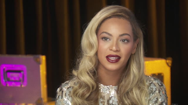 beyonce talks about the how important the chime for change event which benefits women's rights around the world is to her while backstage at the event - gender stereotypes stock videos & royalty-free footage