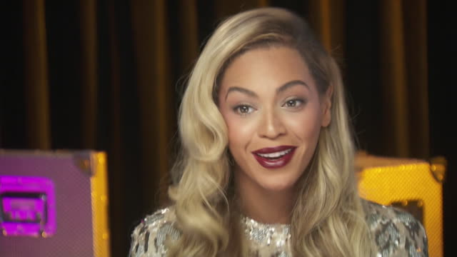 beyonce talks about the importance of men getting involved in women's rights issues while backstage at the chime for change benefit event - women's issues stock videos & royalty-free footage