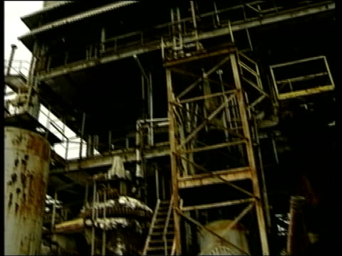 Bhopal GV Union Carbide chemical plant where poison gas leak killed over 3000 people Baby with fused webbed fingers toes Skin sores on woman's arms