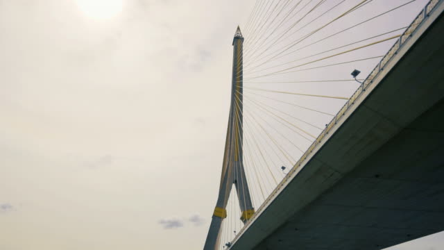 Bhumibol Bridge, Bangkok from the Chao Phraya river