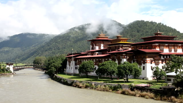 bhutan, punakha dzong - bhutan stock videos & royalty-free footage