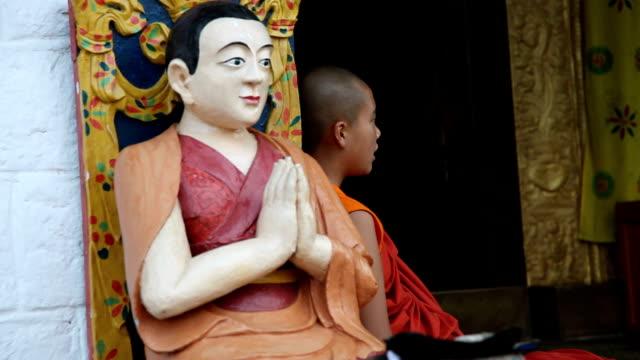 bhutan, punakha - one teenage boy only stock videos & royalty-free footage