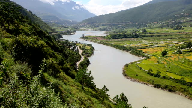 bhutan, punakha - bhutan stock videos & royalty-free footage