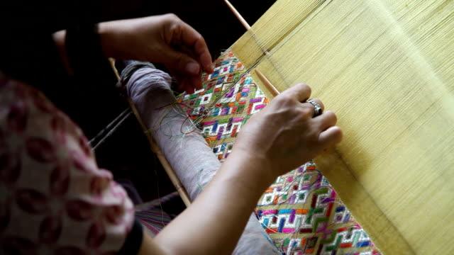 bhutan, thimphu, weaving - weaving stock videos & royalty-free footage