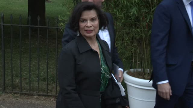 bianca jagger arriving for the summer party at the serpentine gallery on june 26 2013 in london england - the serpentine gallery stock videos & royalty-free footage