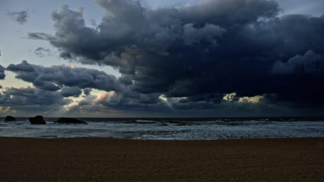 """Biarritz Blick auf den Grande Plage """"-Strandparty"""