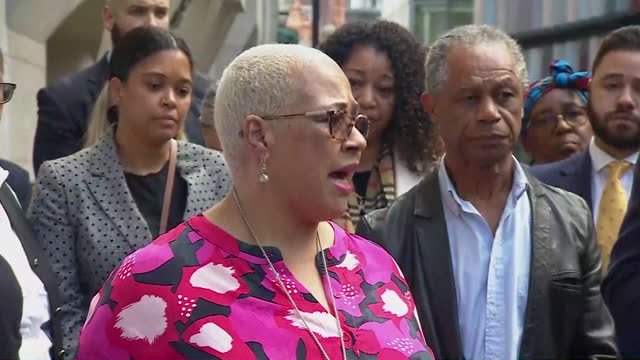 bibaa henry and nicole smallman's mother mina smallman speaking outside court after danyal hussein was found guilty of their murder - daughter stock videos & royalty-free footage