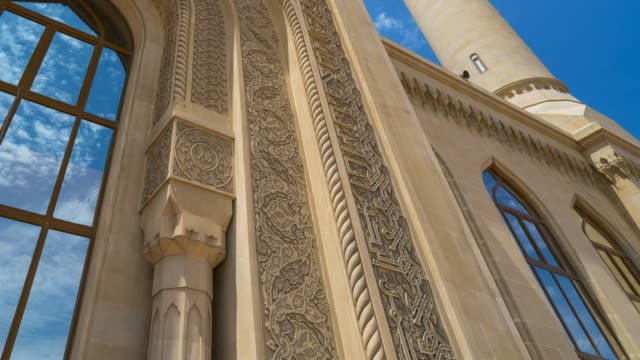 bibi-heybat mosque, baku city, azerbaijan, middle east - baku video stock e b–roll