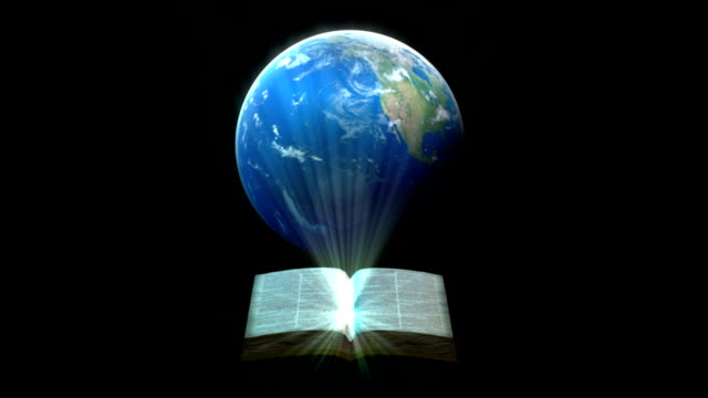 bible around the world 3d animation - bible stock videos and b-roll footage