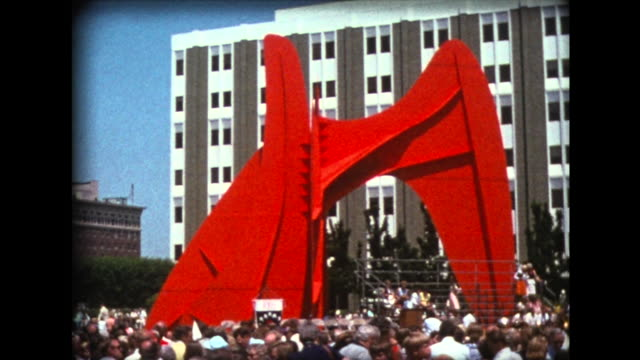 1976 bicentennial church service at Calder sculpture