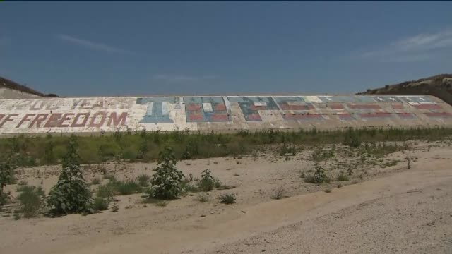 KTLA Bicentennial Mural From Prado Dam on June 1 2015 Supporters have filed a lawsuit in hopes of saving the Prado Dam bicentennial mural which is...