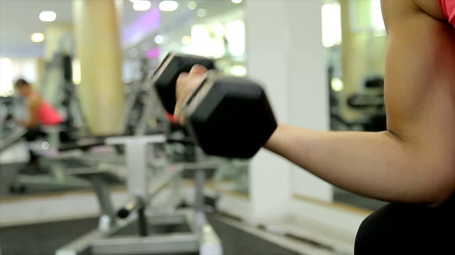 Biceps training,b roll