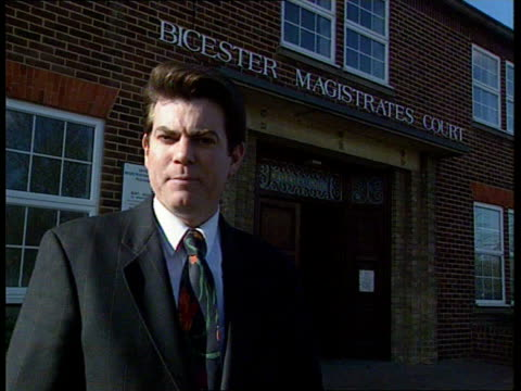 Bicester Magistrates Court CMS Macinnes i/c SOT MS Michael Breen towards out of court followed by Hill CMS Michael Breen Hill's solicitor statement...