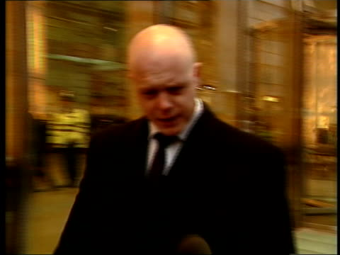kevin wells attends itv england london holborn kevin wells out of inquiry and along as stops to comment to press sot happy to have overview and see... - itv late news stock-videos und b-roll-filmmaterial