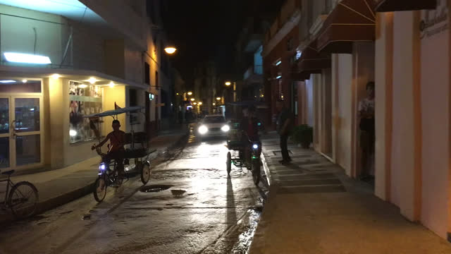 bicitaxis in the cinematography alleyway on november 16, 2016; in camaguey, cuba. the image is a point of view. this area in the historic district of... - cinematography stock videos & royalty-free footage