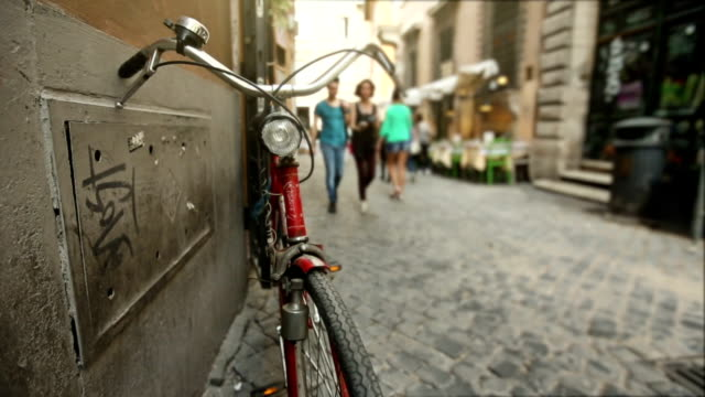 Bicycle in a small alley in the center of Rome