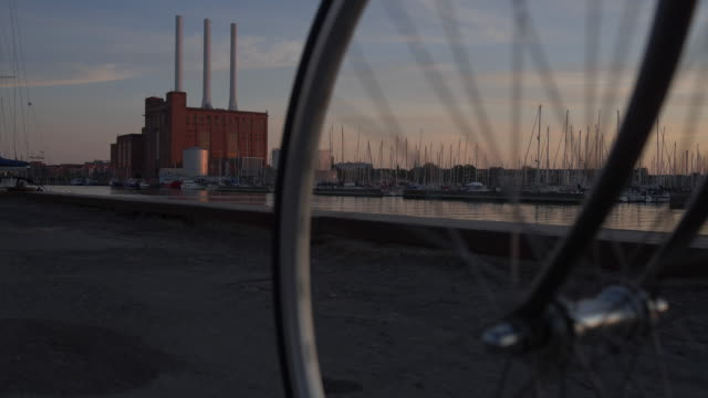 bicycle in copenhagen - road marking stock videos & royalty-free footage