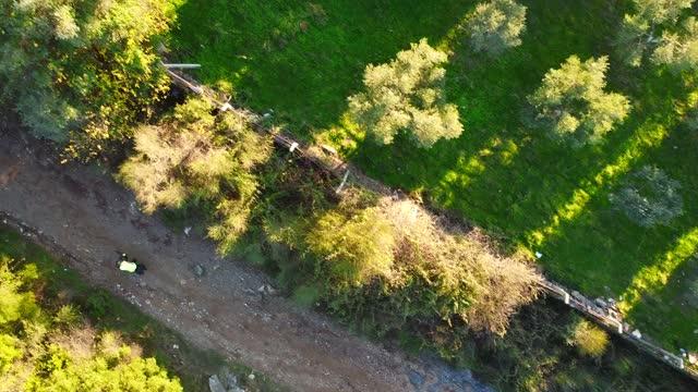 山道上景で自転車を移動 - サイクリングロード点の映像素材/bロール