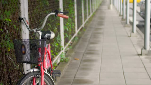 Bicycle On Footpath