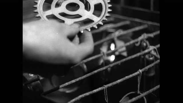 cu bicycle parts undergoing corrosion test in factory; 1952 - 1952 stock videos & royalty-free footage