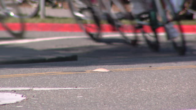 bicycle race turn - audio available stock videos & royalty-free footage