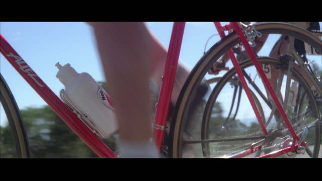 ms pov bicycle racers on mountain road - racing bicycle stock videos and b-roll footage