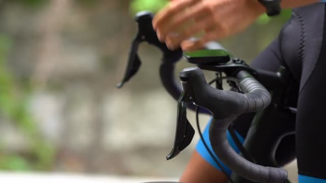 bicycle racing cyclist: starting - cycling helmet stock videos & royalty-free footage
