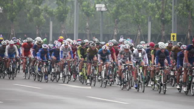 vidéos et rushes de ls bicycle racing/xian,shaanxi,china - couvre chef