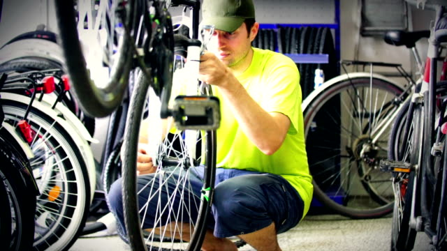 bicycle repair. - tail light stock videos & royalty-free footage