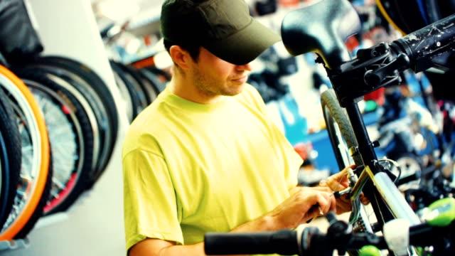 bicycle repair - saddle stock videos & royalty-free footage