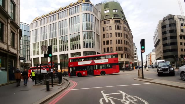 bicycle ride from gracechurch street to london bridge - london bridge england stock videos & royalty-free footage