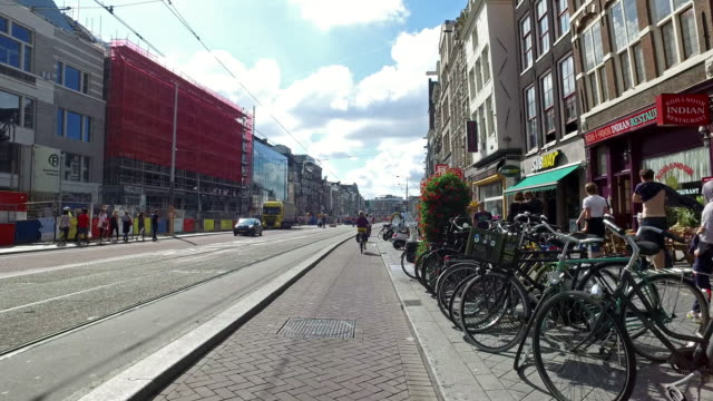 4k pov: bicycle ride in amsterdam streets - amsterdam stock videos & royalty-free footage